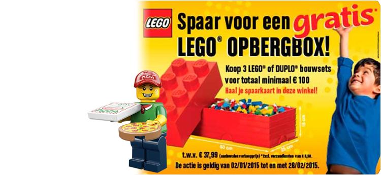 Spaar voor gratis LEGO opbergbox