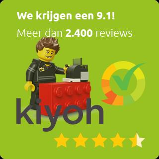 2400 Kiyoh klantbeoordelingen; 9.1!