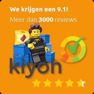 2600 Kiyoh klantbeoordelingen; 9.1!