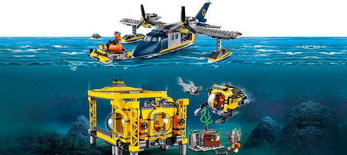 Met Diepzee LEGO Ontdek jij wat er onder water ligt verborgen