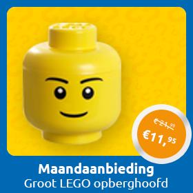 Maandaanbieding September Groot LEGO opberghoofd